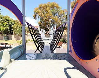 Audrey Street Reserve Playground Multistation Balance Bridge 1
