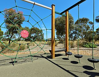 Spinnaker Circuit West Reserve Playground Multistation Climbing Net 1
