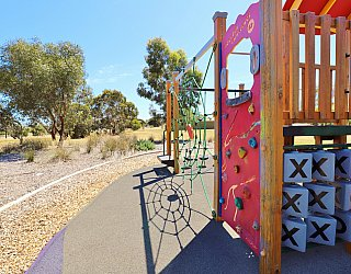 Spinnaker Circuit West Reserve Playground Multistation Climbing Wall 1