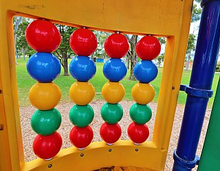 Hamilton Park Reserve Playground Multistation Bead Panel 1
