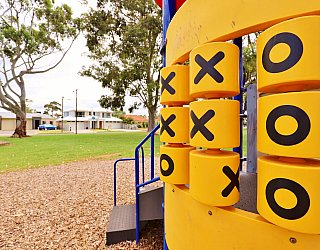 Hamilton Park Reserve Playground Multistation Naughts And Crosses 1