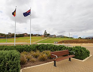 Heron Way Reserve Commemorative Space Flags 1