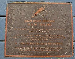 Heron Way Reserve Memorial Adam Johnson 1