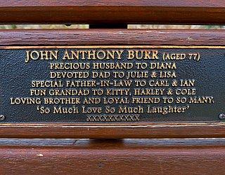 Heron Way Reserve Memorial John Burr 1