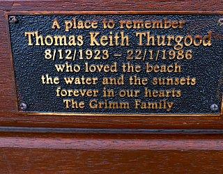 Heron Way Reserve Memorial Thomas Thurgood 1