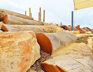 Heron Way Reserve Playground Logs 1