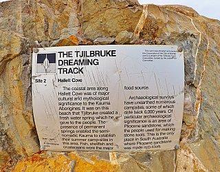 Heron Way Reserve Tjilbruke Dreaming Track Sign 2