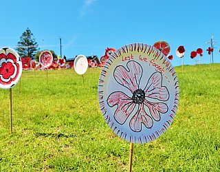 Heron Way Reserve Remembrance Day 2018 Poppies 3