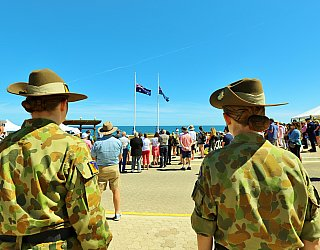 Heron Way Reserve Remembrance Day 2018 Soldiers 1