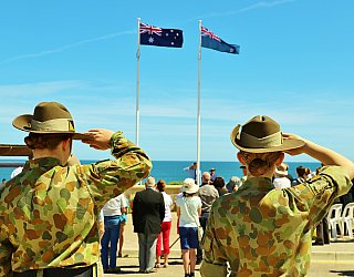 Heron Way Reserve Remembrance Day 2018 Soldiers 2