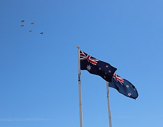 Heron Way Reserve Remembrance Day 2018 Flyover 1