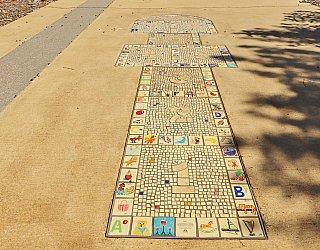 George Street Reserve Art Mosaic Hopscotch 1