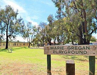 Glandore Community Centre Marie Gregan Playground Sign 2