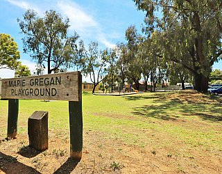 Glandore Community Centre Marie Gregan Playground Sign 3