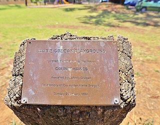 Glandore Community Centre Marie Gregan Playground Sign Plaque 1