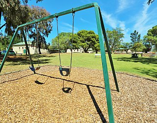 Glandore Community Centre Marie Gregan Playground Swings 2