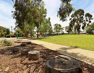 Rajah Street Reserve Playground Nature Play Steppers 1