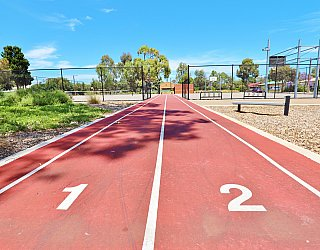 Rajah Street Reserve Sports Sprint Track 1