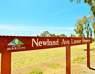 Newland Avenue Linear Park Sign 1