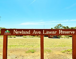 Newland Avenue Linear Park Sign 2