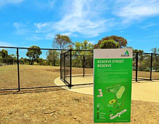 Reserve Street Reserve Dog Park Sign 1