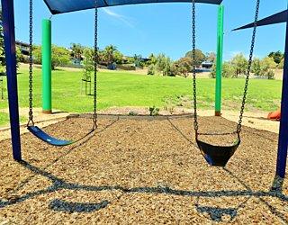 Roy Lander Reserve Playground Shade Swings 1
