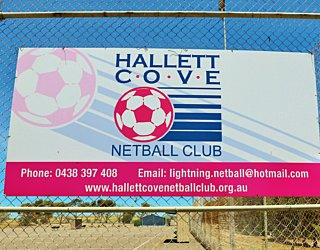 The Cove Sports Netball Sign 2