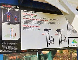 Scarborough Terrace Reserve 20190107 Fitness Equipment Station 4 Leg Press Station 4