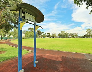 Scarborough Terrace Reserve 20190107 Fitness Equipment Station 5 Chin Pull Up Pull Up Station 1