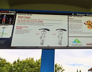 Scarborough Terrace Reserve 20190107 Fitness Equipment Station 6 Stepper Station 3