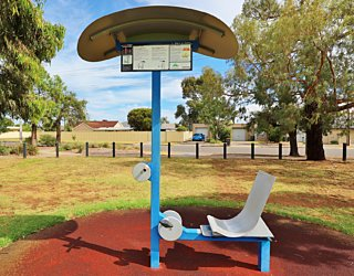 Scarborough Terrace Reserve 20190107 Fitness Equipment Station 1 Warm Up Station
