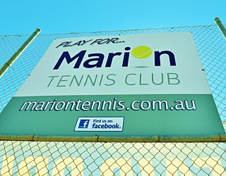 Marion Oval Tennis Courts Sign 1