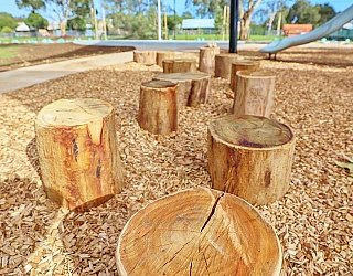 Appleby Road Reserve Playground Stepping Logs 1