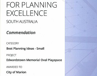 ESMRG | 2016 PLA Award | Best Planning Ideas Small