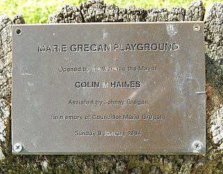 Glandore Community Centre Marie Gregan Playground Plaque 1