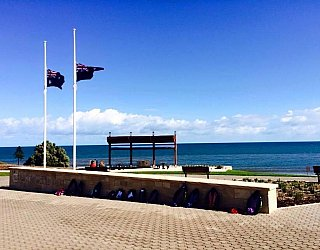 Hallett Cove Foreshore Commemorative Wall Flags Half Mast 1