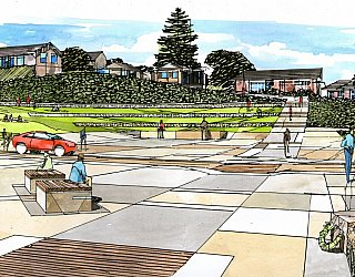 Hallett Cove Foreshore Master Plan Panorama Artist Impression Commemorative Space 1