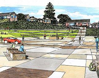 Hallett Cove Foreshore Master Plan Panorama Artist Impression Commemorative Space 1