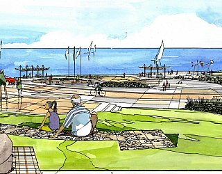 Hallett Cove Foreshore Master Plan Panorama Artist Impression