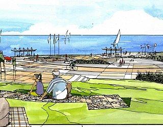 Hallett Cove Foreshore Master Plan Panorama Artist Impression