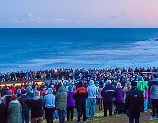 Hallett Cove Foreshore Panorama Anzac Day 2015 Ben Heide Photography