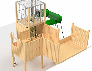 Hendrie Street Reserve Inclusive Playground Slide Design From Above