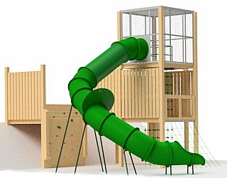 Hendrie Street Reserve Inclusive Playground Slide Design From Side 2