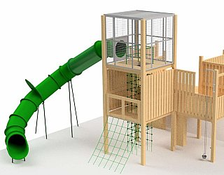 Hendrie Street Reserve Inclusive Playground Slide Design From Side