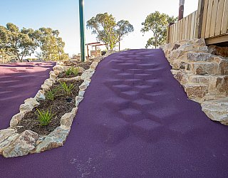 Hendrie Street Reserve Playground Multistation Softfall Stairs 1