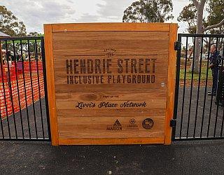 Hendrie Street Reserve Playground Sign