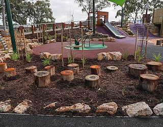 Hendrie Street Reserve Playground Stepping Logs 1