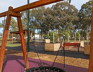 Hendrie Street Reserve Playground Swings Basket Swing 1