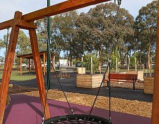 Hendrie Street Reserve Playground Swings Basket Swing 1