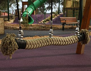 Hendrie Street Reserve Playground Swings Side By Side Rope Swing